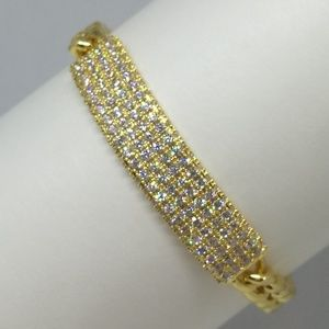 Jewelry - Gold Pave Bar Bracelet #B023